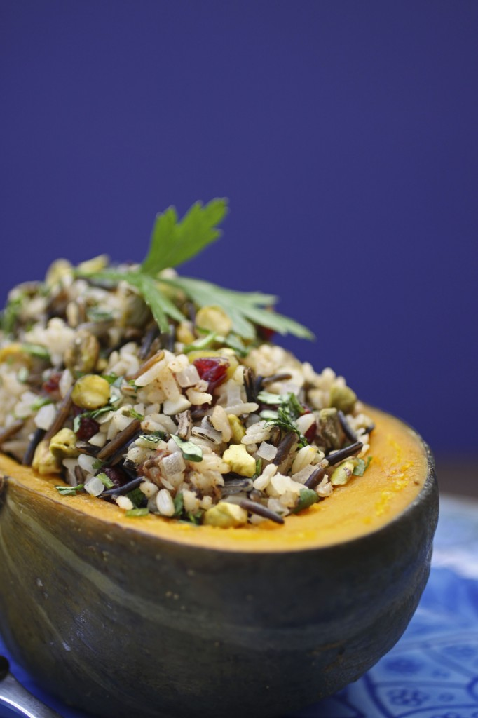 Stuffed Squash with Brazil Nuts and Pistachios
