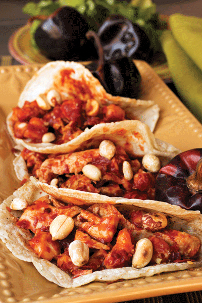 Hominy and Setian Tacos