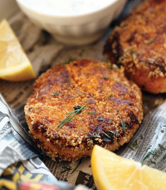 Polenta crab cakes recipe