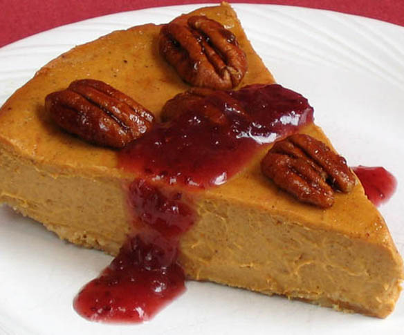 Pumpkin Cheesecake w drizzle 1c