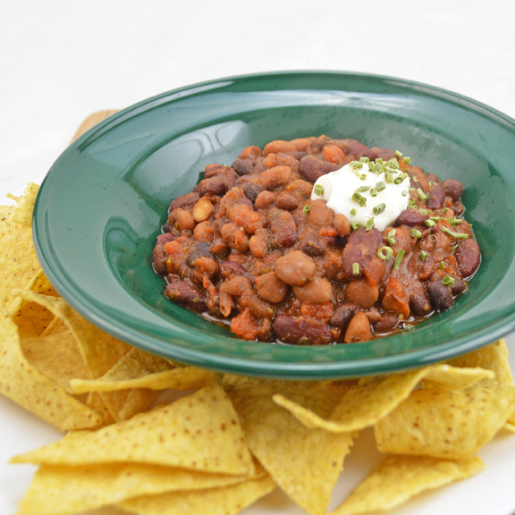 Three-Bean Pantry Chili REV