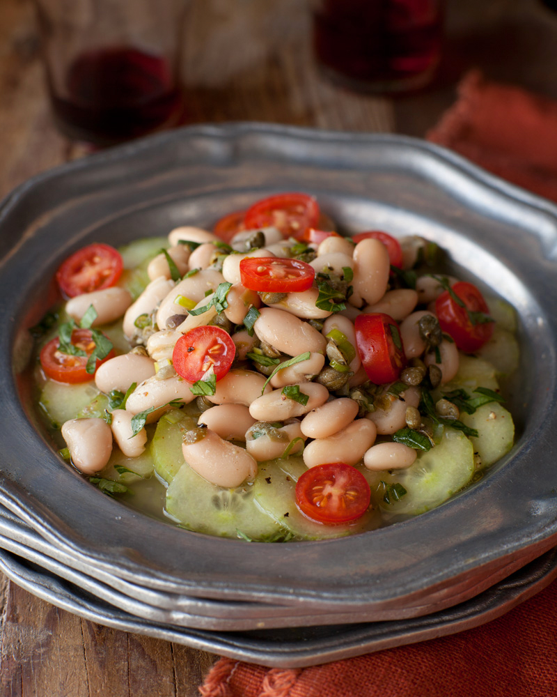 Cucumber and White Bean Ceviche