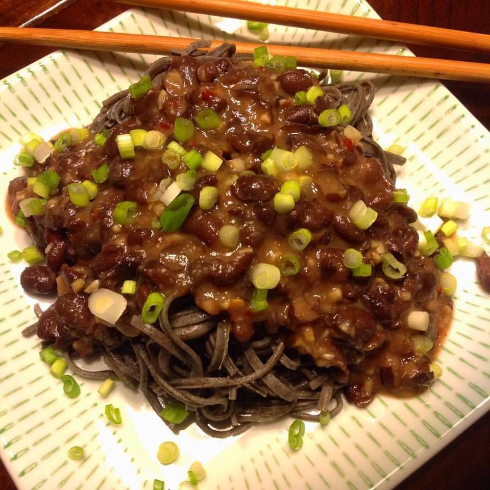 manchurian black bean noodles