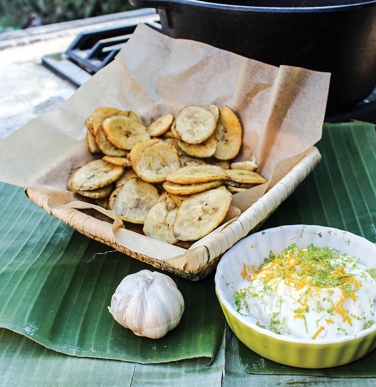 Plantain Chips with Orange Aioli from Vegan Mexico by Jason Wyrick