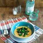 Vegan Cheesy Grits and Greens with Smoky Mushrooms