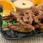 Seitan Satays with Ginger-Peanut Sauce