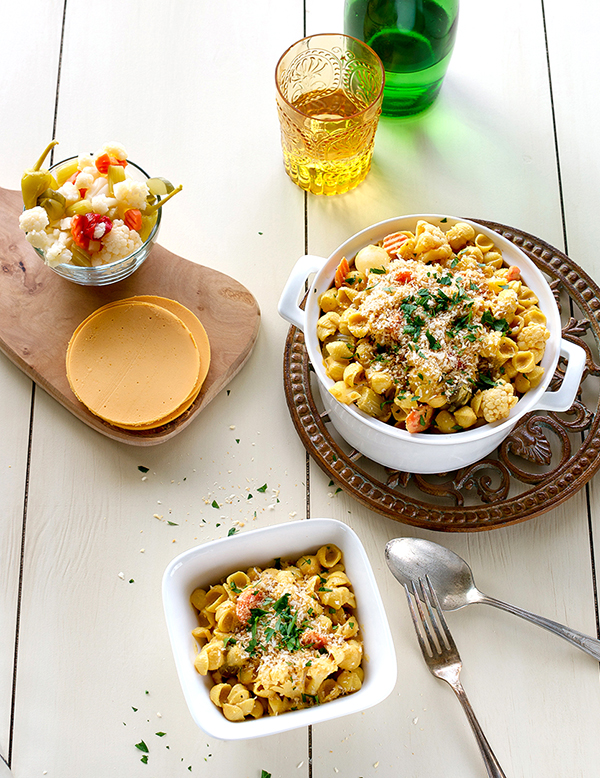 Giardiniera Mac and Cheese from Cook the Pantry by Robin Robertson