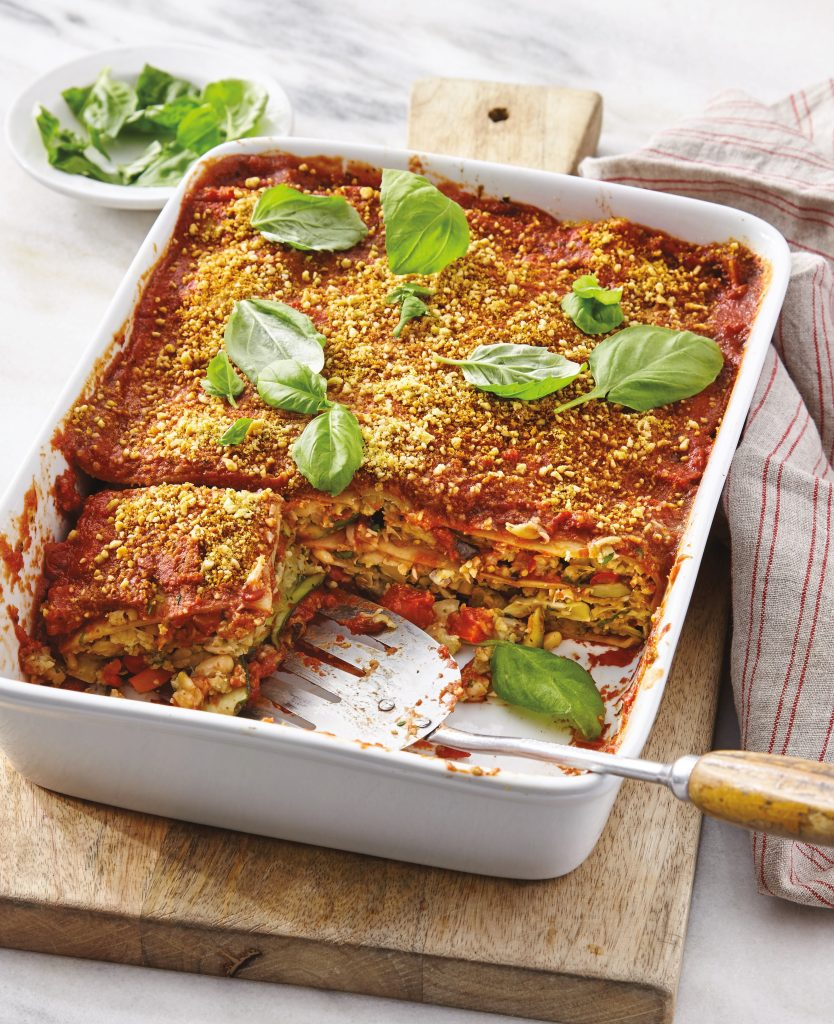 Roasted Vegetable Lasagna from The How Not to Die Cookbook