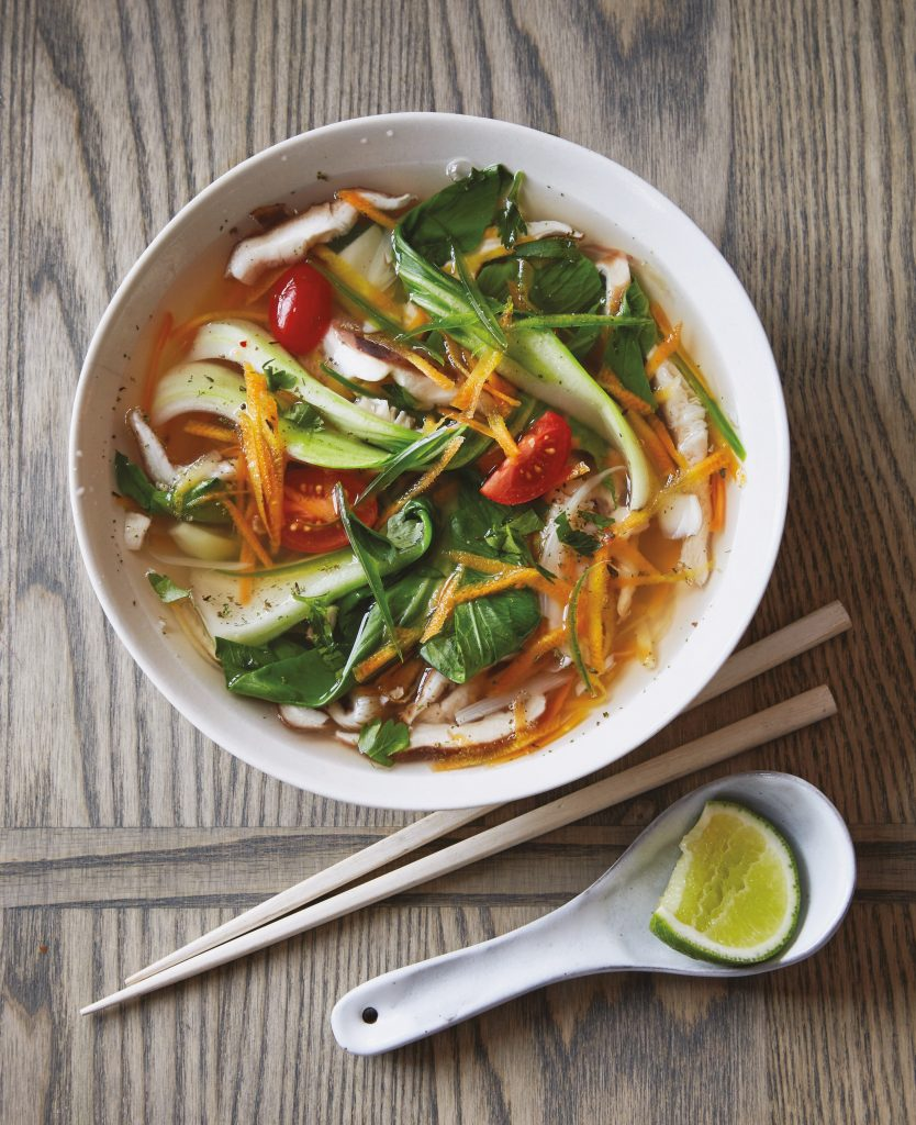 Spicy Asian Vegetable Soup from The How Not to Die Cookbook