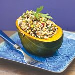 Stuffed Squash with Brazil Nuts and Pistachios - vegan and gluten-free, perfect for Thanksgiving