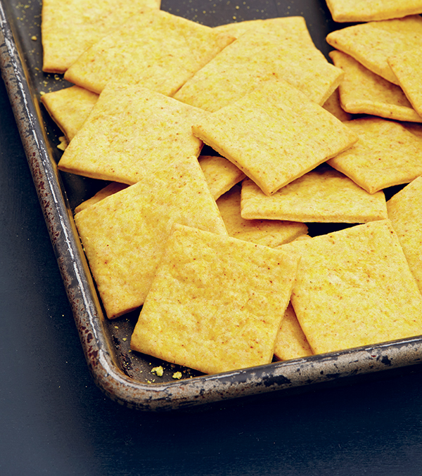 Vegan Cheesy Crackers from Veganize It! by Robin Robertson