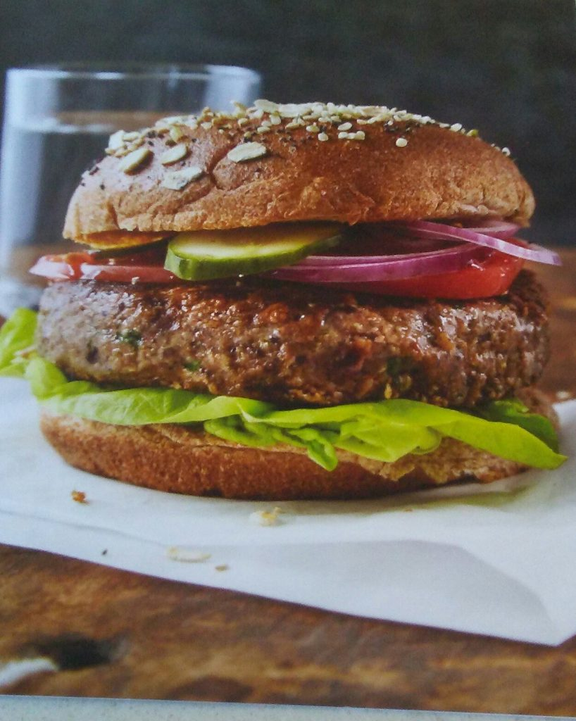 Black Bean Burger from The How Not to Die Cookbook
