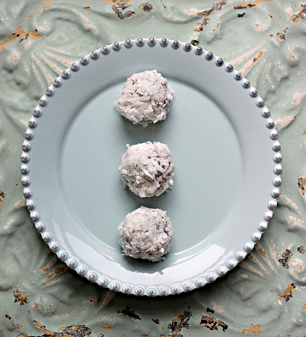 Robin Robertson's Vegan Chocolate Macadamia Truffles with Coconut – Dairy-Free, Soy-Free, Gluten-Free
