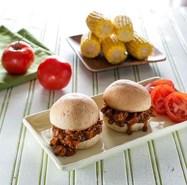 Robin Robertson's vegan BBQ Jack Sandwiches