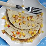 Vegan Peach-Almond Butter Quesadillas from The Nut Butter Cookbook by Robin Robertson