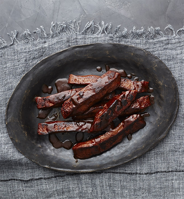 Vegan BBQ Seitan Ribs from Veganize It! by Robin Robertson