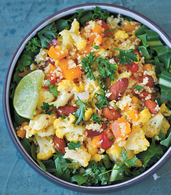 Chili-Lime Cauliflower Bowl from Vegan Reset by Kim-Julie Hansen