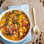 Caribbean Greens and Beans Soup from One-Dish Vegan by Robin Robertson (vegan and gluten-free) #vegan #glutenfree #vegansoup